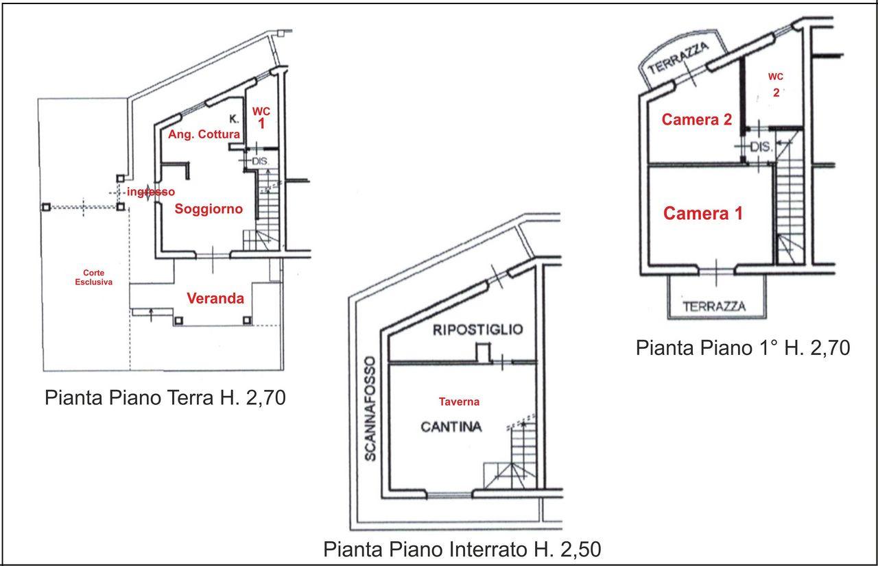 Villetta a schiera in vendita a massa agenzia for Piani a schiera